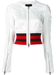 Alexander Wang Cropped Jacket White