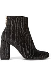 Stella Mccartney Flocked Velvet Ankle Boots Black