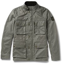 Belstaff Trialmaster Slim Fit Waxed Cotton Jacket Gray