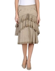 Jo No Fui 3 4 Length Skirts Khaki