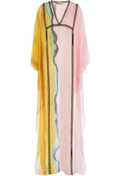 Emilio Pucci Embroidered Silk Tunic Multicolor