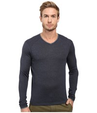 Agave Alma Long Sleeve Supima Modal Fine Gauge India Ink Men's Long Sleeve Pullover Gray
