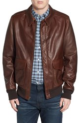 Men's Schott Nyc 'A 2' Pebbled Leather Bomber Jacket