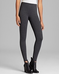 David Lerner Leggings Side Zip Charcoal Heather