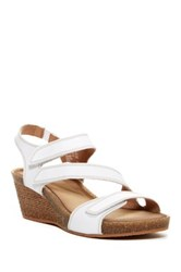 Clarks Heverly Ordo Platform Wedge Sandal Wide Width Available White