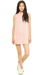 J.O.A. Structured Shirtdress Baby Pink