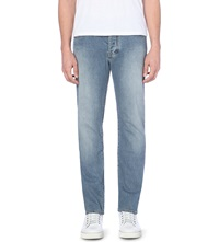 Armani Jeans Regular Mid Rise Faded Jeans Light Blue