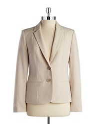 Anne Klein Two Button Blazer Beige