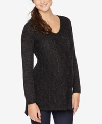 Motherhood Maternity V Neck Sweater Black