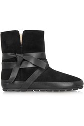 Isabel Marant Nygel Leather And Shearling Ankle Boots Black
