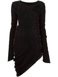 Masnada Asymmetric Longsleeved Dress Black