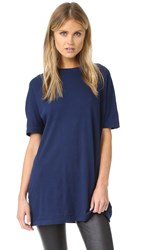 Vince Relaxed Oversized Tee Dark Navy