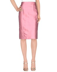 Dandg Skirts Knee Length Skirts Women Pink