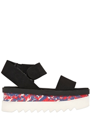 Stella Mccartney 70Mm Cornelia Faux Leather Wedges Black