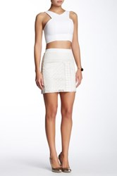 Tart Mariposa Vegan Leather Skirt White