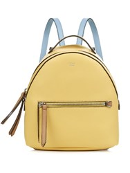 Fendi By The Way Leather Mini Backpack Yellow