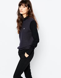 Fred Perry Vintage Look Polo Neck Sweater Black