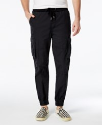 Guess Men's Poplin Jogger Pants Jet Black