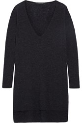 Cedric Charlier Ribbed Knit Sweater Navy