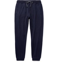 Brunello Cucinelli Tapered Cashmere And Cotton Blend Sweatpants Blue