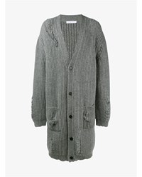J.W.Anderson Alpaca Wool Blend Long Cardigan Grey White Black