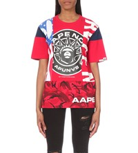 Aape By A Bathing Ape Patch Print Cotton Jersey T Shirt Rdx