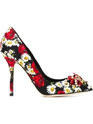 Dolce And Gabbana Daisy And Poppy Print Pumps Multicolour