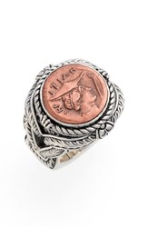 Konstantino Women's 'Aeolus Hermes' Coin Ring Copper Silver
