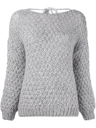 Mes Demoiselles 'Woodford' Hand Made Jumper Grey