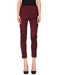 Vicolo Trousers Casual Trousers Women Maroon