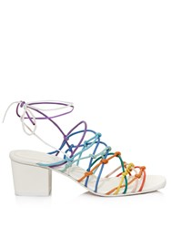 Chloe Contrast Colour Skinny Strap Sandals