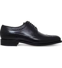 Barker Woodbridge Leather Derby Shoes Black
