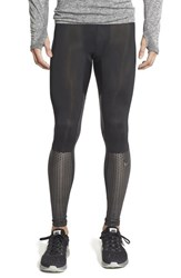 Men's Nike 'Hypercool Max' Dri Fit Training Tights Black Metallic Titanium