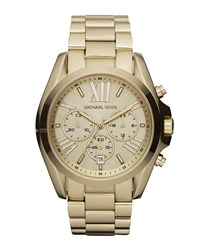 Mid Size Bradshaw Chronograph Watch Golden Michael Kors