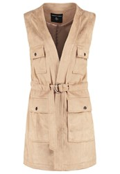 Dorothy Perkins Waistcoat Brown Light Brown