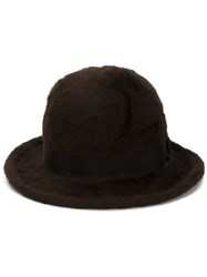 Marc Jacobs Bowler Hat Brown