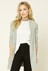 Forever 21 Marled Ribbed Knit Cardigan