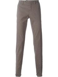 Eleventy Slim Chino Trousers Brown