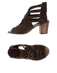 Pantanetti Sandals Dark Brown