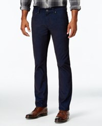 Inc International Concepts Men's Slim Fit Stretch Corduroy Pants Only At Macy's Basic Navy