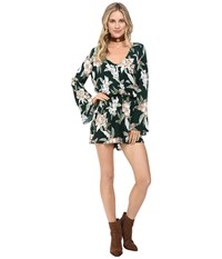 Show Me Your Mumu Red Rocks Romper Forest Florist Cloud Women's Jumpsuit And Rompers One Piece Multi