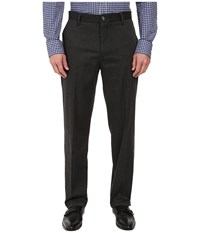 Dockers Signature Stretch Classic Flat Front Charcoal Heather Men's Casual Pants Gray