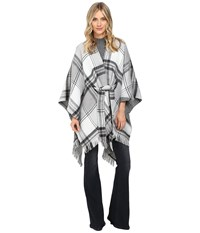 Echo Reversible Plaid Cape Black Women's Clothing