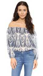 Joie Bamboo Off Shoulder Top Periwinkle