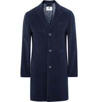Nn.07 Nn07 Aaron Slim Fit Water Repellent Cotton Moleskin Coat Navy