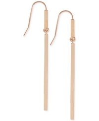 French Connection Bar Ball Drop Earrings Rose Gold