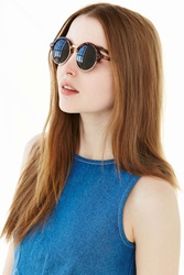 Urban Outfitters Circle Master Sunglasses Brown