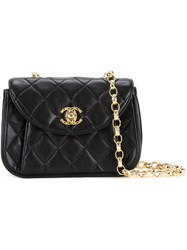 Chanel Vintage Small Quilted Shoulder Bag Black