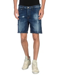 Just Cavalli Denim Bermudas Blue