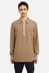 Decoster Half Zip Long Sleeve Shirt Tan